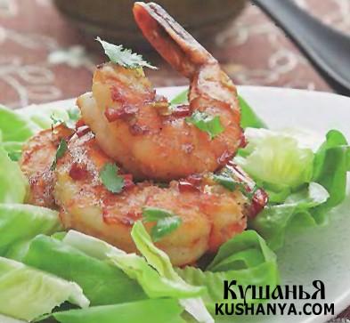 Фото Тайский салат с тигровыми креветками