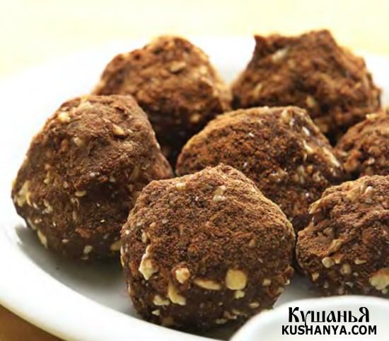 Фото Шоколадная «картошка» с орехами
