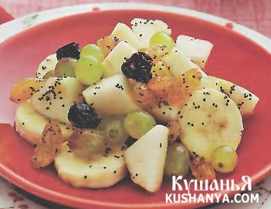 Фото Фруктовый салат с маком