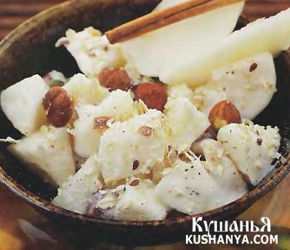 Фото Салат из груш с орехами