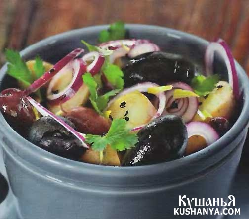 Фото Марокканский картофельный салат с маслинами