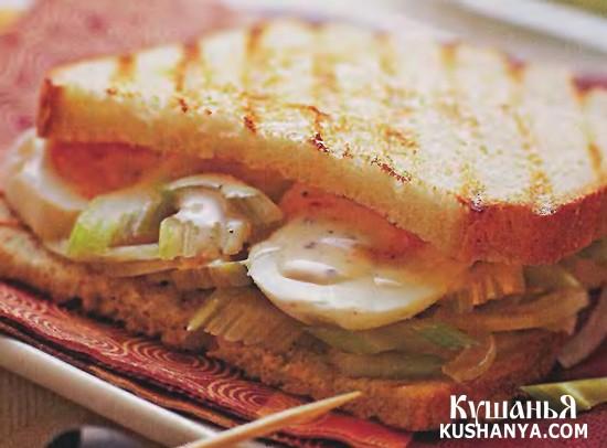 Фото Сэндвич с яичным салатом