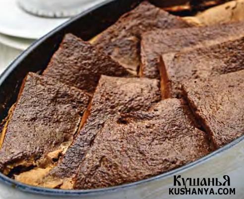 Фото Шоколадный хлебный пудинг