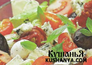 Крестьянский салат с сыром фото