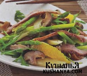 Салат с запеченной уткой и апельсинами фото
