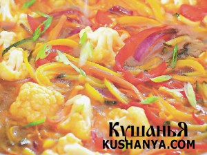 Овощи в кисло-сладком имбирном соусе фото