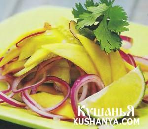 Огуречный салат с манго фото