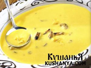 Суп  из кукурузы с мидиями фото