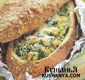 Хлебец с артишоками и шпинатом фото