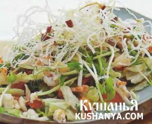 Вьетнамский крабовый салат с жареной вермишелью фото