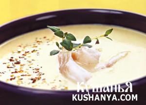 Суп из тыквы и копченой рыбы фото