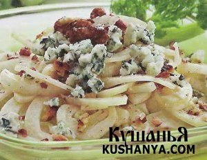 Салат из фенхеля с грецкими орехами и дорблю фото