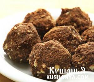 Шоколадная «картошка» с орехами фото