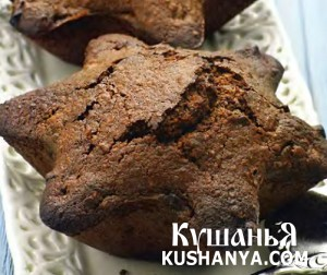 Шоколадно-миндальный кекс с имбирем фото