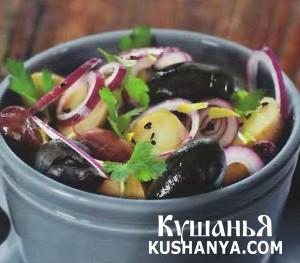 Марокканский картофельный салат с маслинами фото
