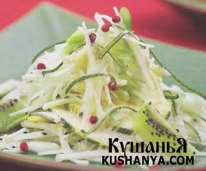 Салат с кабачками, киви и фенхелем фото