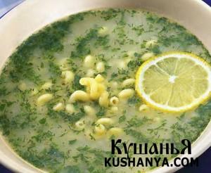 Греческий суп «Авголемоно» фото