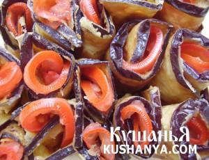 Баклажаны с помидорами и чесноком фото