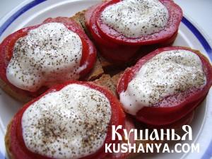Бутерброды с колбасой и помидорами фото