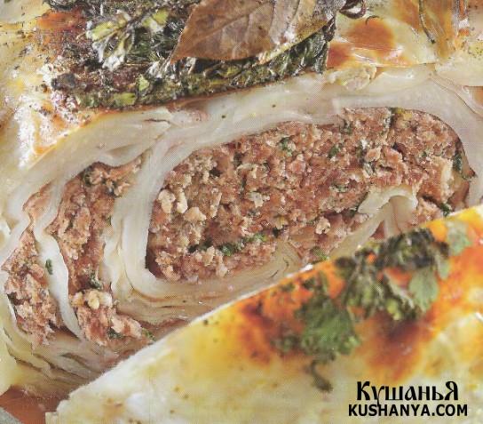 Фото Белокочанная капуста фаршированная мясом