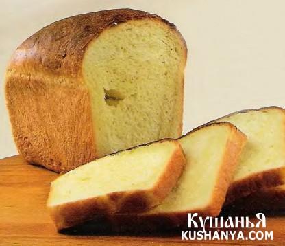 Фото Сдобный белый хлеб (в микроволновке)