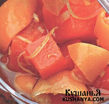 Фото Тыквенный конфитюр с мандаринами