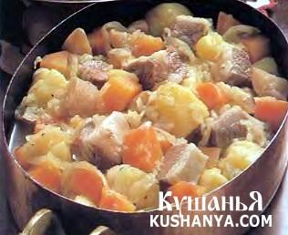 Фото Мясо и овощи в горшочке