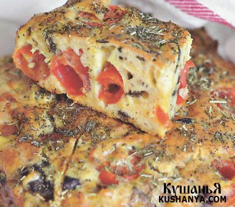 Фото Кекс закусочный с помидорами и баклажанами