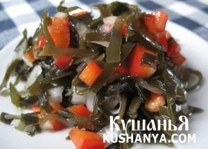Фото Салат из морской капусты