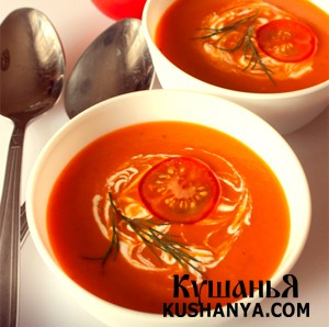 Холодный томатный суп фото