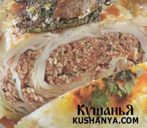 Белокочанная капуста фаршированная мясом фото