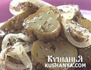 Салат из огурцов с кориандром фото