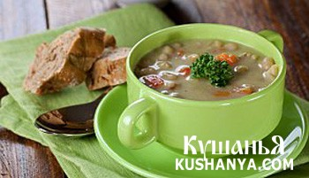 Фото Суп-пюре из картофеля и фасоли