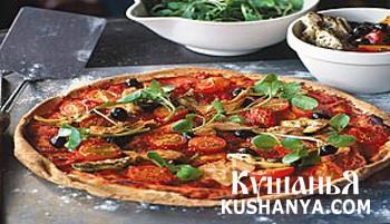 Фото Быстрая пицца с салатом