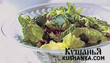 Фото Зеленый салат с маслинами
