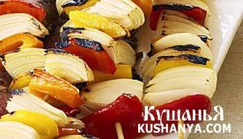 Фото Овощной кебаб