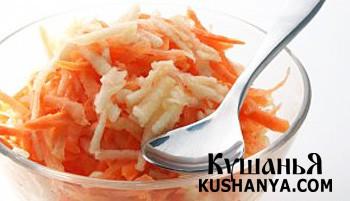 Фото Салат из моркови и яблок