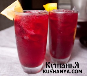 Фото Холодный красный чай с имбирем