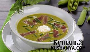 Фото Гороховый суп-пюре с копченостями