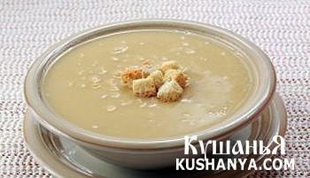 Фото Гороховый суп с гренками
