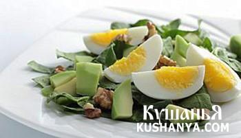 Фото Салат из яиц и авокадо