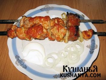 Фото Шашлык из свинины в духовке