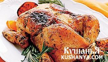 Фото Курица запеченная с цитрусами