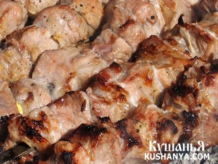 Фото Шашлычек из свинины в белом вине
