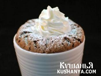 Фото Шоколадное суфле с белым шоколадом