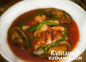 Фото Суп с мидиями и морепродуктами
