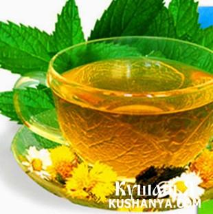 Фото Зеленый чай с мятой