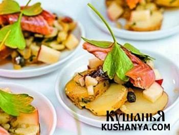 Фото Закуска из картофеля с красной рыбой