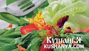 Салат со свежей клубникой фото