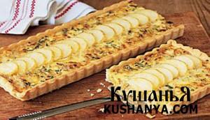 Луковый пирог с картофелем фото